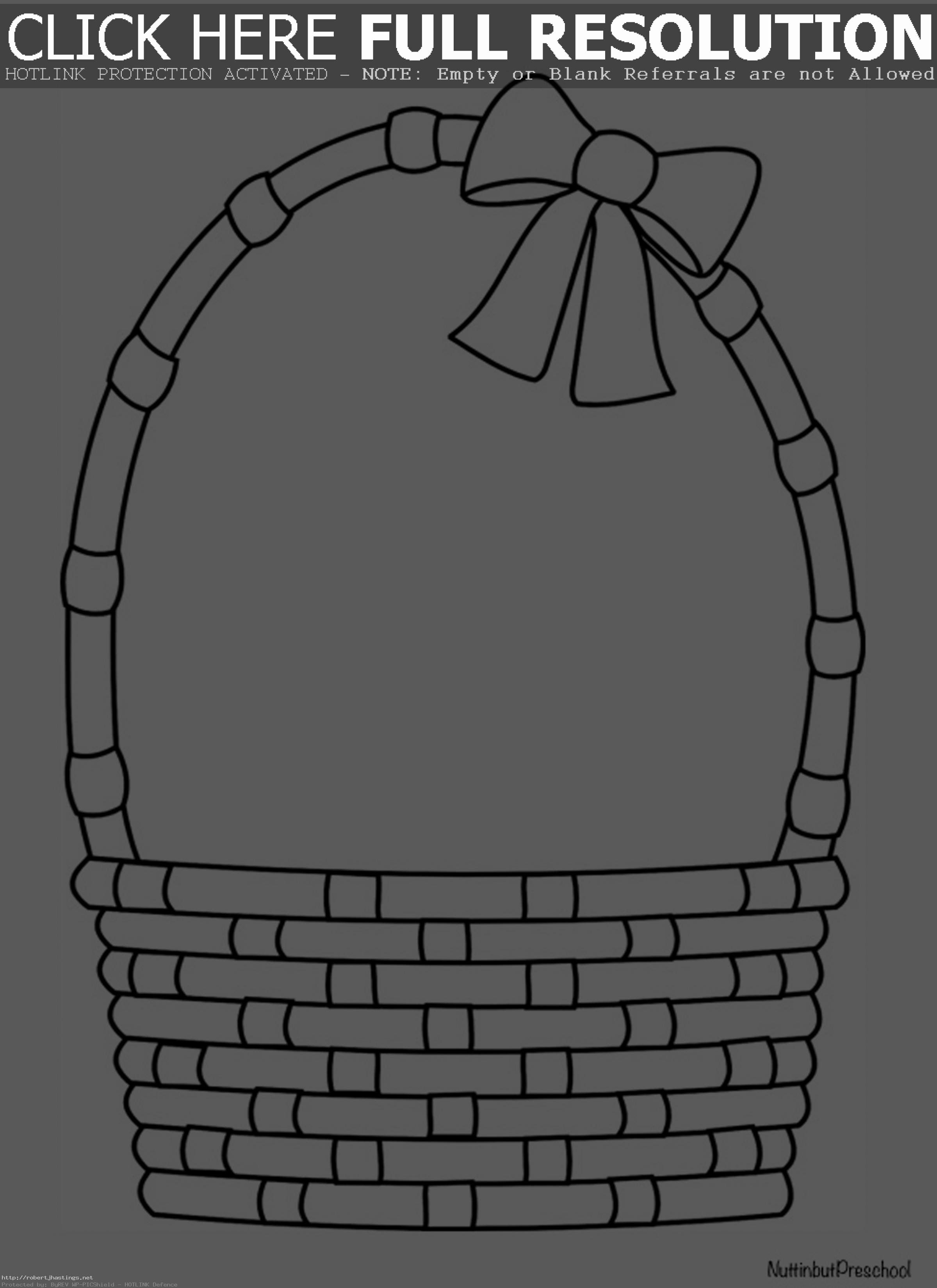 Empty Easter Basket Coloring Page Di 2020