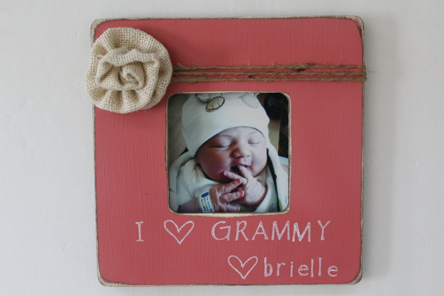 Grammy Picture Frame, I Love Grammy Photo Frame, Coral Picture Frame ...
