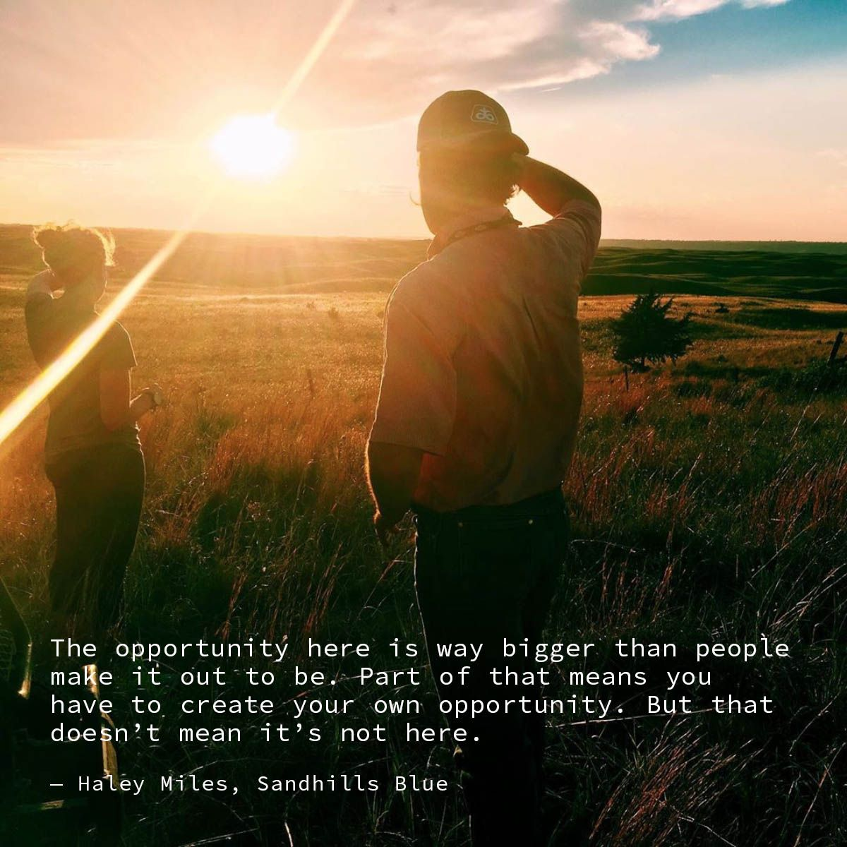 The opportunity here is way bigger than people make it out to be. Part of that means you have to create your own opportunity. But that doesn't mean it's not here. — Haley Miles #sandhills #nebraska #ainsworth #photography #smalltownlove #smalltown #rurallife #farmlife #ruralrevival
