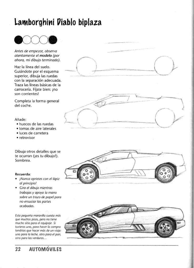 Como Dibujar Autos Paso A Paso Taringa Dibujo Auto Pinterest