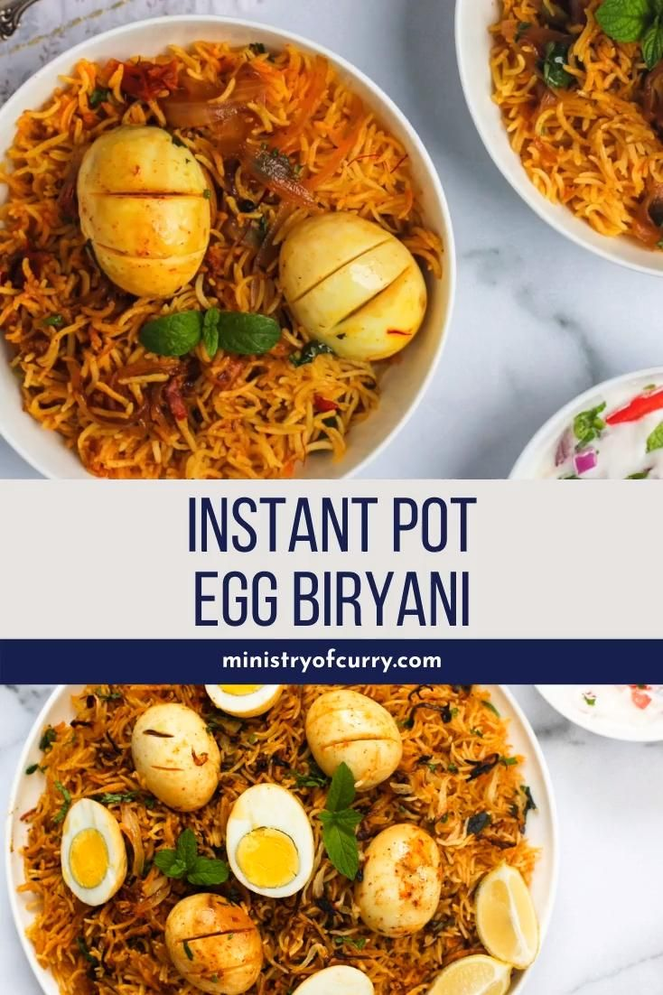 Photo of Biryani de huevo instantáneo