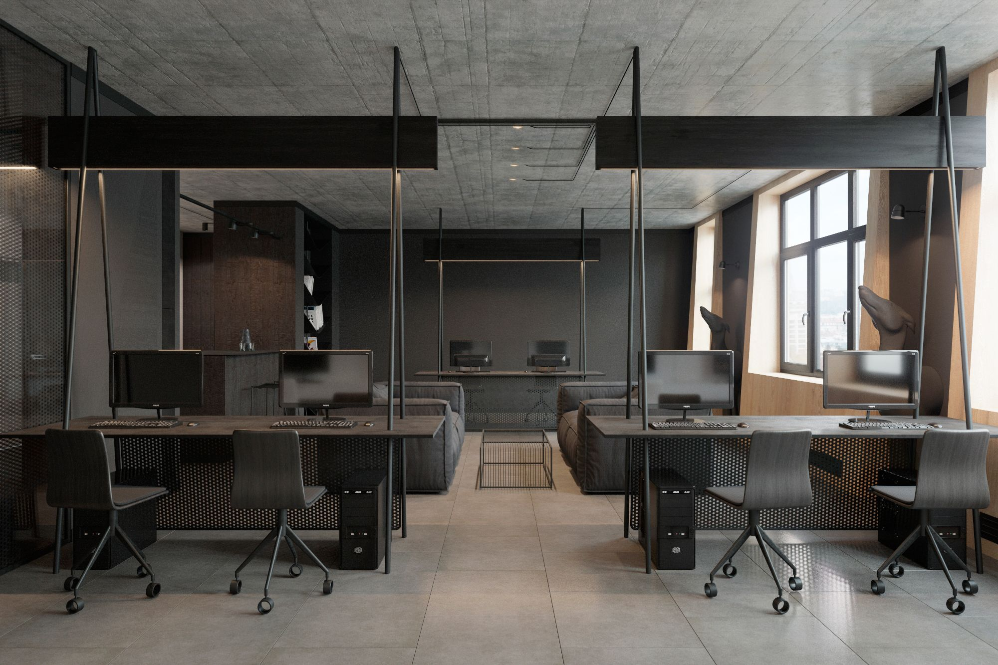 Office Interior In Minimalism Style From Ukrainian Design Studio Zooi Kiev Modern Office Design Office Furniture Modern Office Interior Design