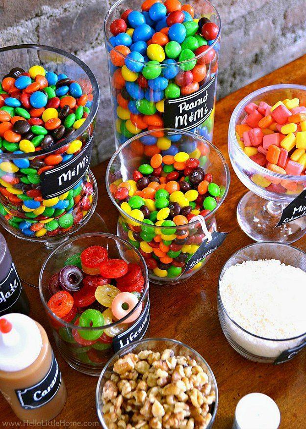 How To Set Up A Diy Ice Cream Sundae Bar Slumber Parties Sundae