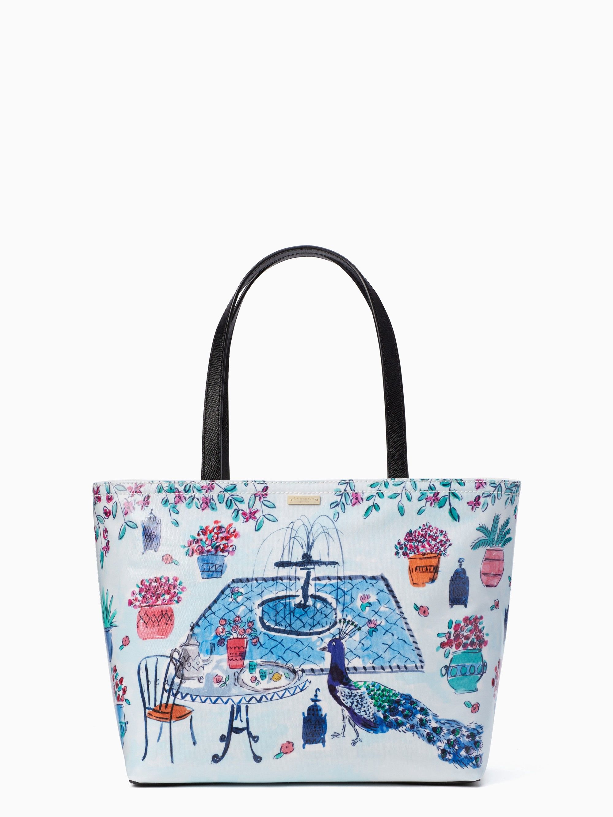 c48488738abb KATE SPADE Full Plume Garden Francis. #katespade #bags #leather #hand bags # canvas #tote #lining #