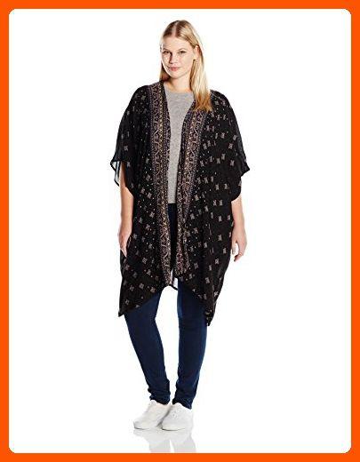 ed5e7b09379 Angie Women s Plus Size Printed Kimono Duster