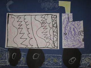 Jamestown Elementary Art Blog: Kindergarten Shape, Line, and Texture Trucks