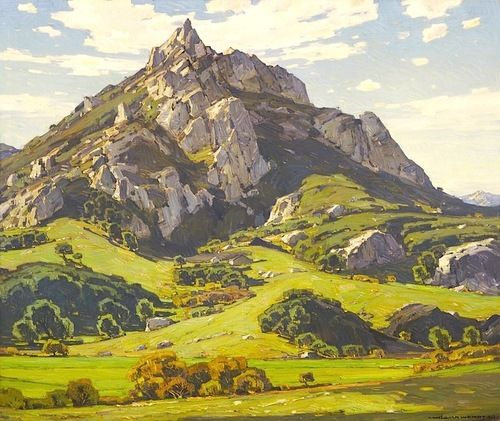 William Wendt (1865-1946). Where Nature's God Hath Wrought, 1925. Oil on Canvas.