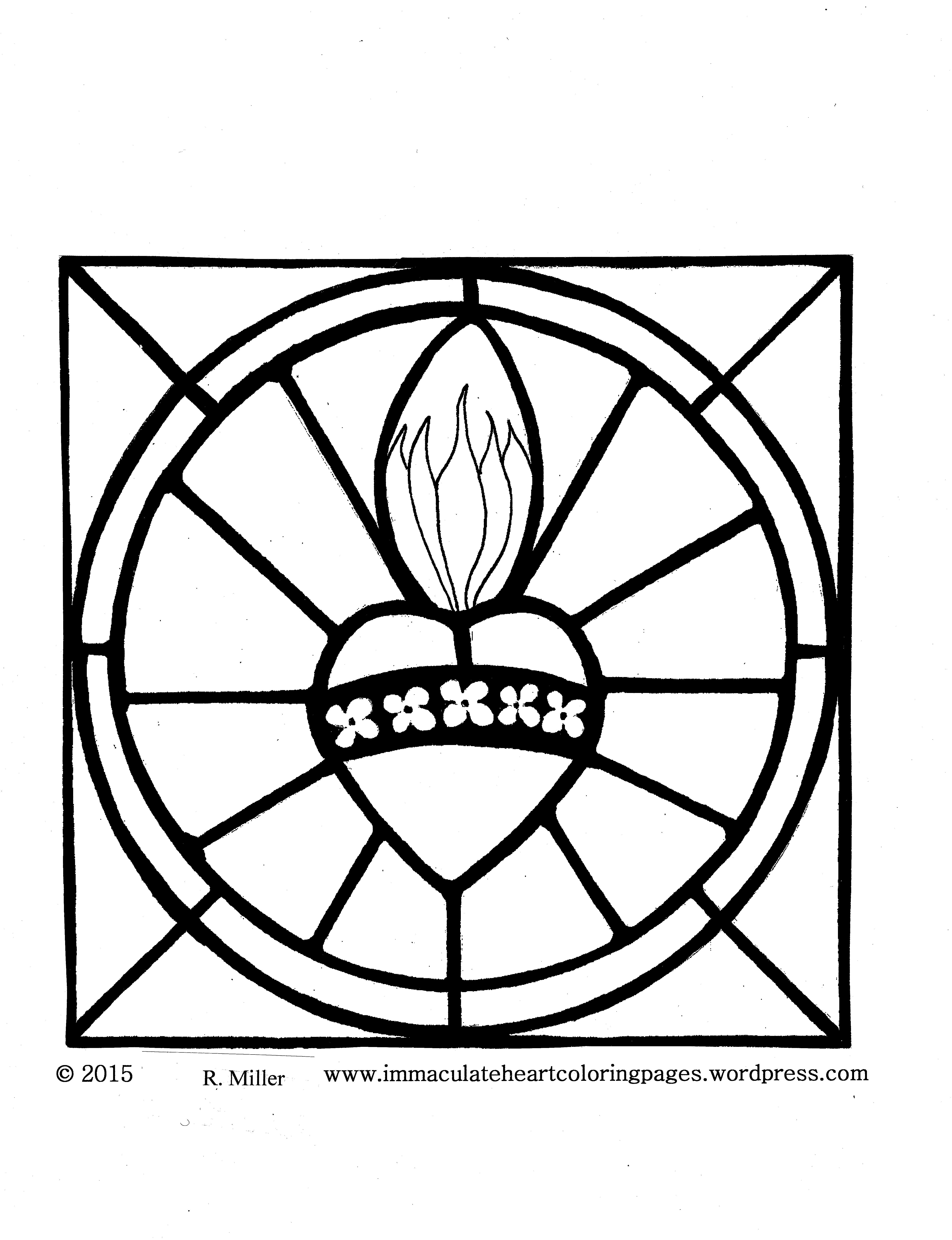 Sacred Heart Of Jesus Coloring Pages Heart Coloring Pages