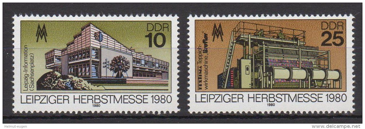 DDR / Leipziger Herbstmesse / MiNr. 2539 2540