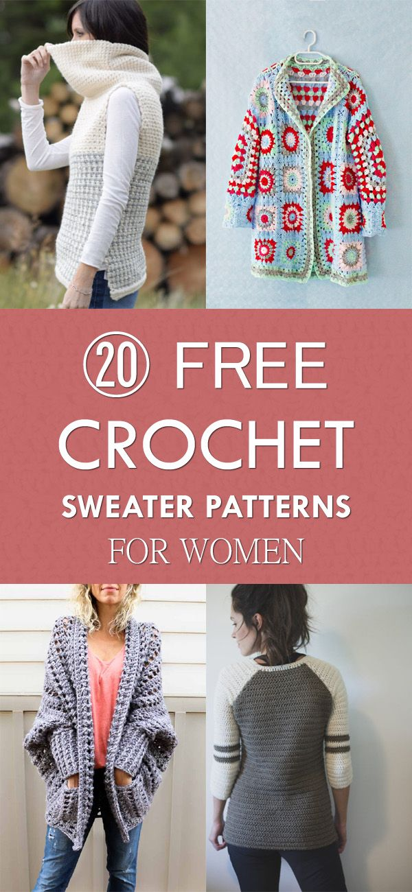 20 Free Crochet Sweater Patterns For Women Crochet Knitting