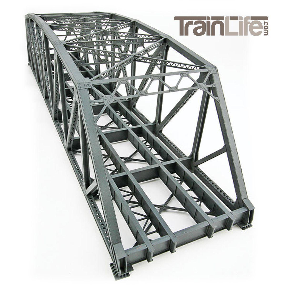 Ho Scale Arched Pratt Truss Railroad Bridge Double Track Model Trains Railroad Bridge Model Railroad