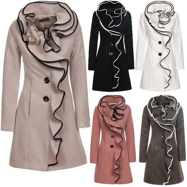 Damen mantel lang ebay