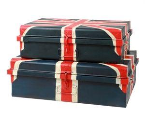 Opbevarings kiste / kuffert - UK, 2 str.
