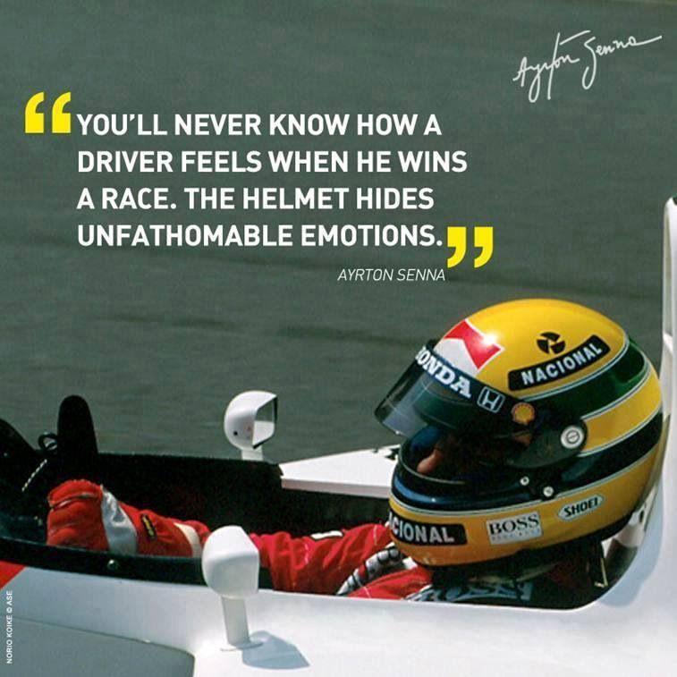 Ayrton Senna 1 Photo Brazilian Racing Driver Motivation Quote Formula 1 Poster