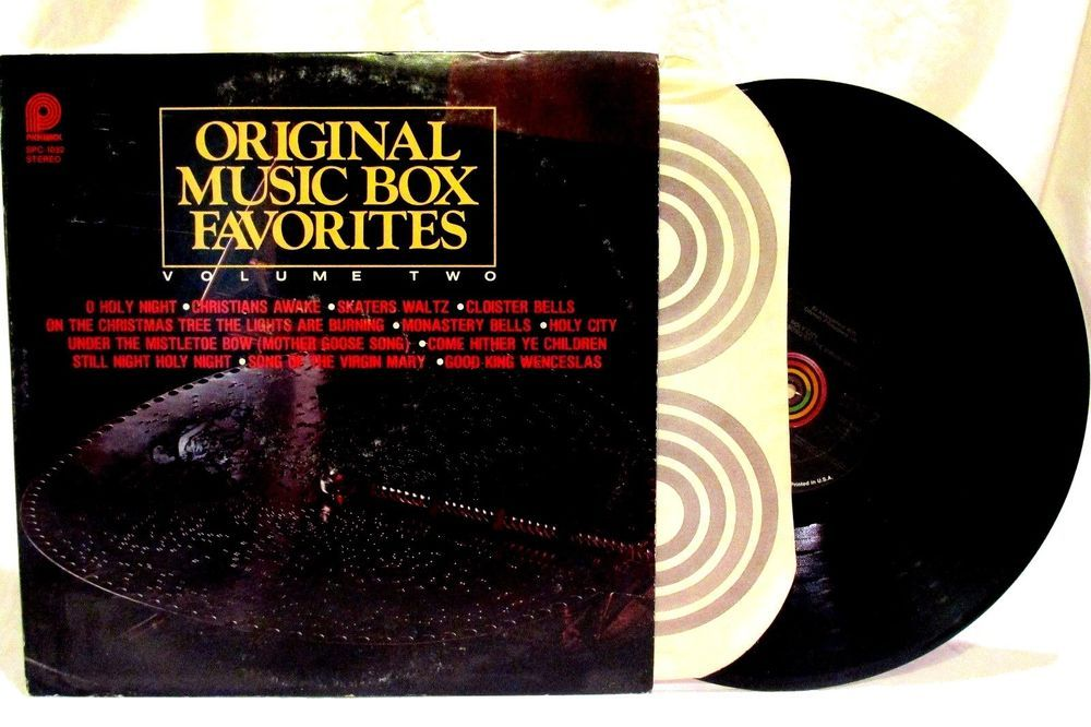 Original Music Box Favorites Volume 2 LP33 Record Pickwick SPC-1032 Christmas #Christmas