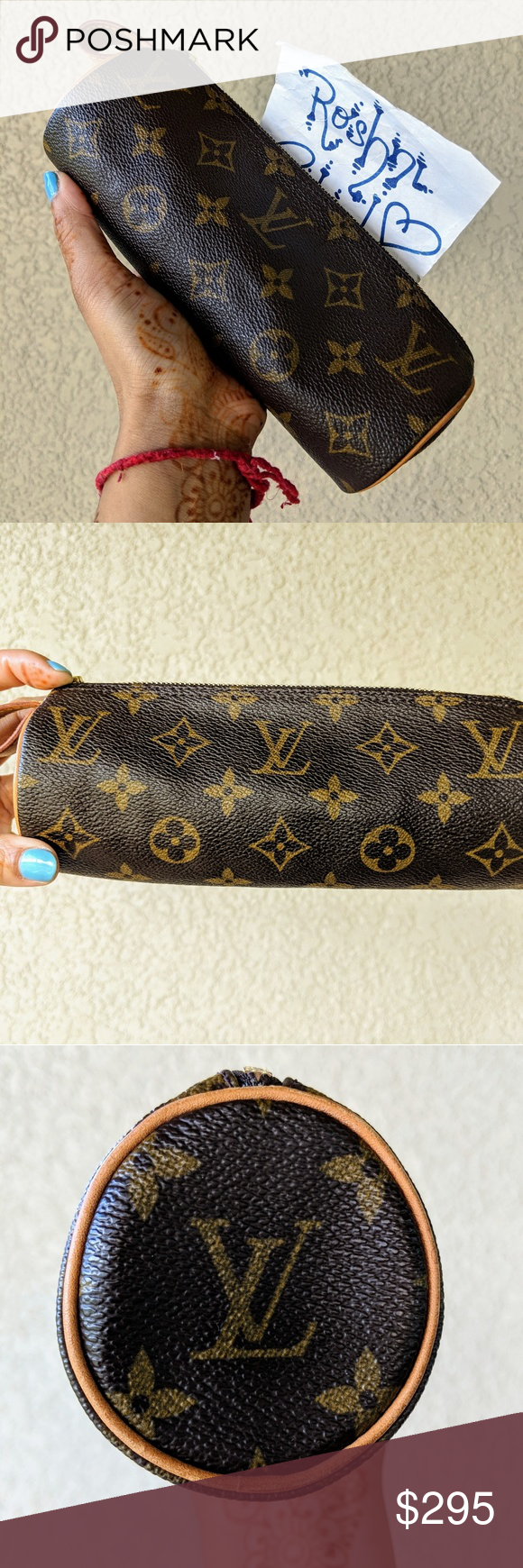 LOUIS VUITTON Monogram Etui Pencil Cosmetic Case This rare