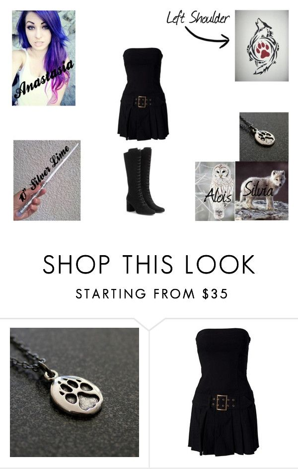 """Anastasia Wolf- 1st Year Gryffindor"" by joyjoybunny ❤ liked on Polyvore featuring Yves Saint Laurent"