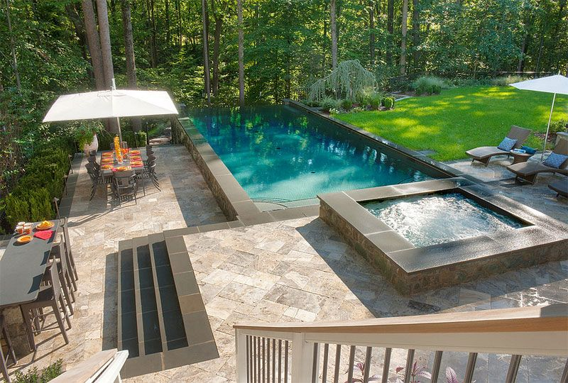 Raised Landscape Above Ground Pool Design