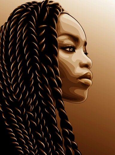 Queen Art From Tumblr Afro Art Desenho De Mulher Negra E