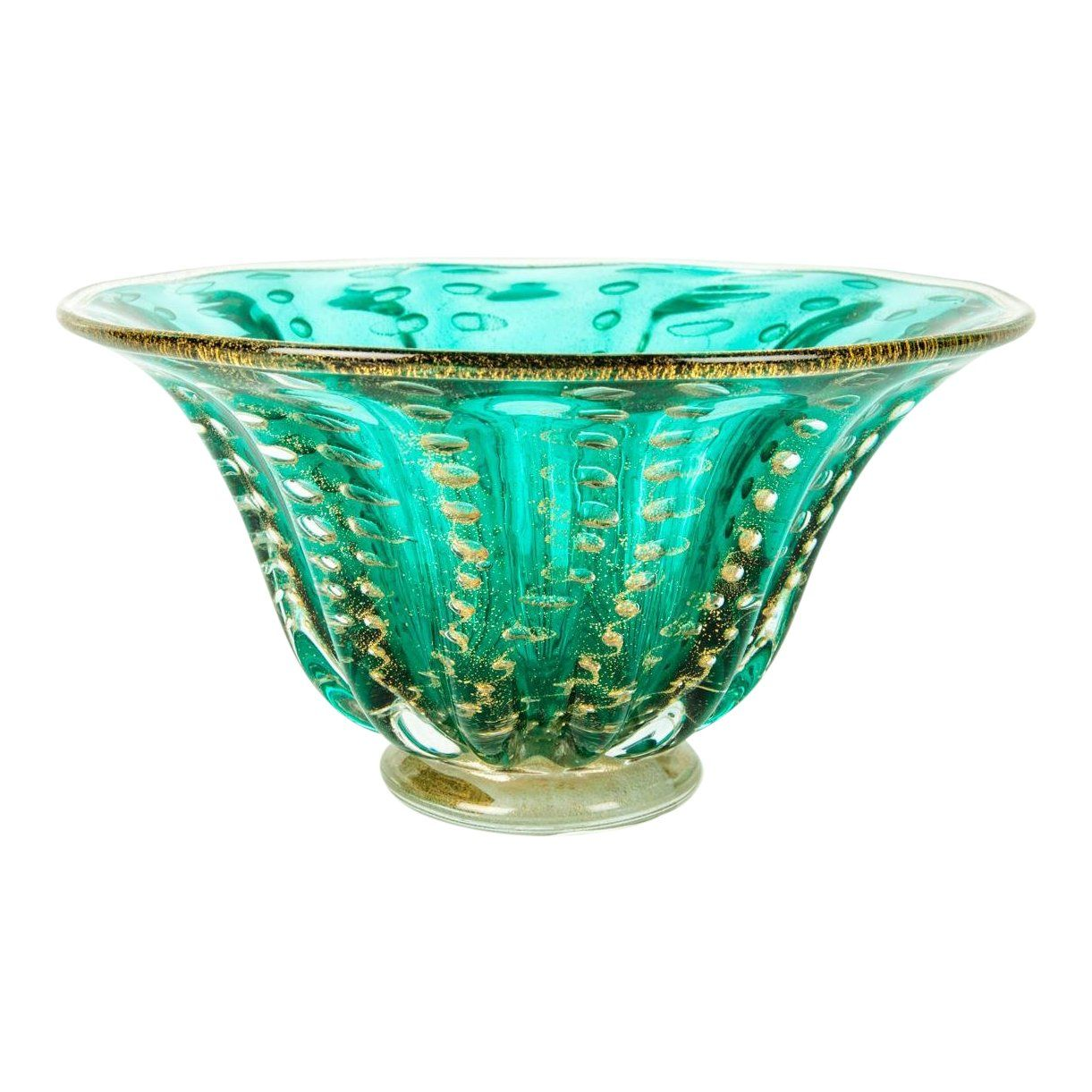 Midcentury Murano Glass Decorative Piece Bowl Image 1 Of 6