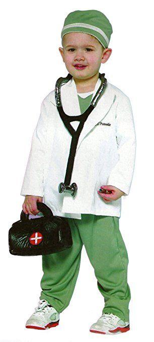4 Teiliges Kinderkostum Arzt Doktor Arztkittel Weiss Grun
