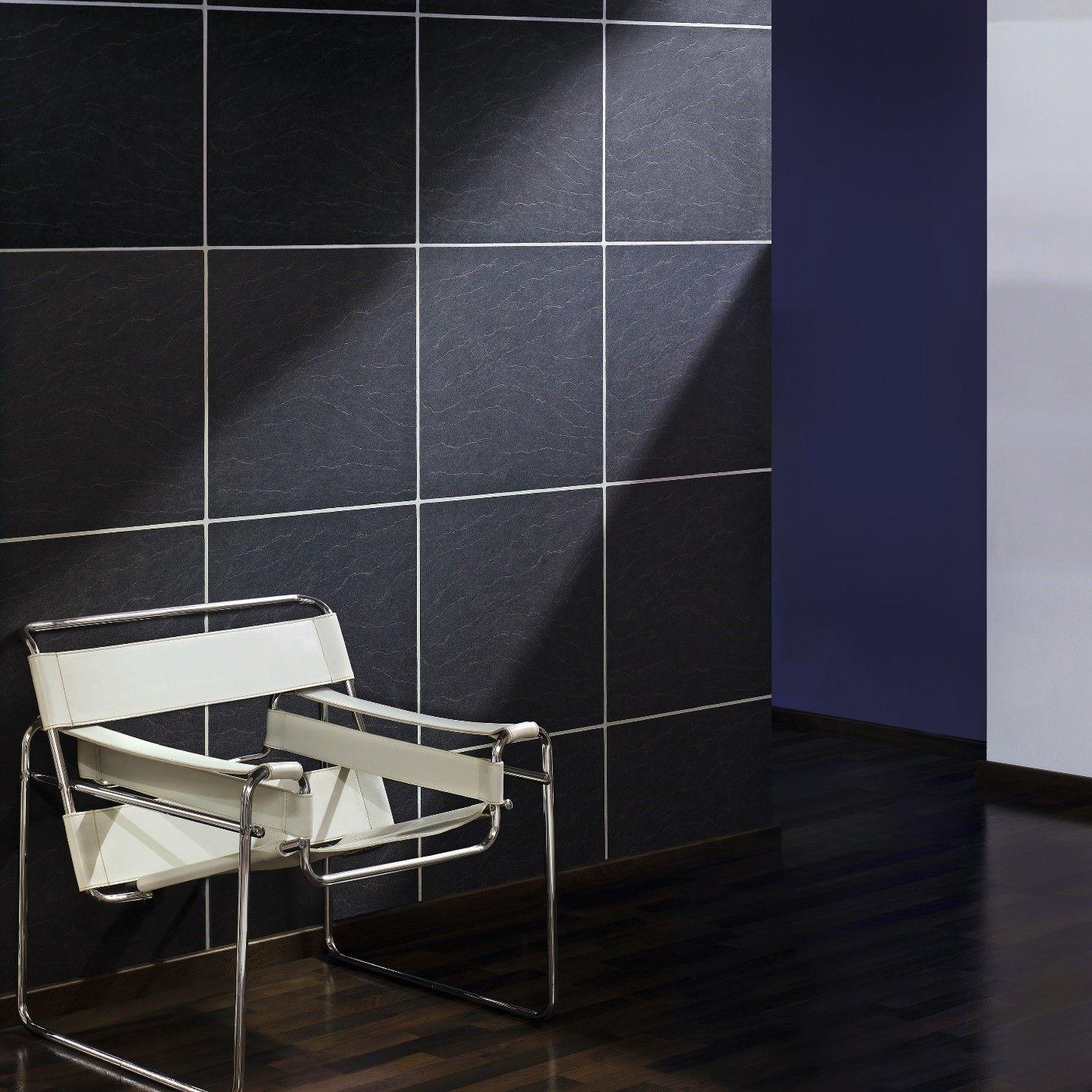 Can I Wallpaper Over Ceramic Tiles Faux Tiles Slate Tile Grey Slate Tile