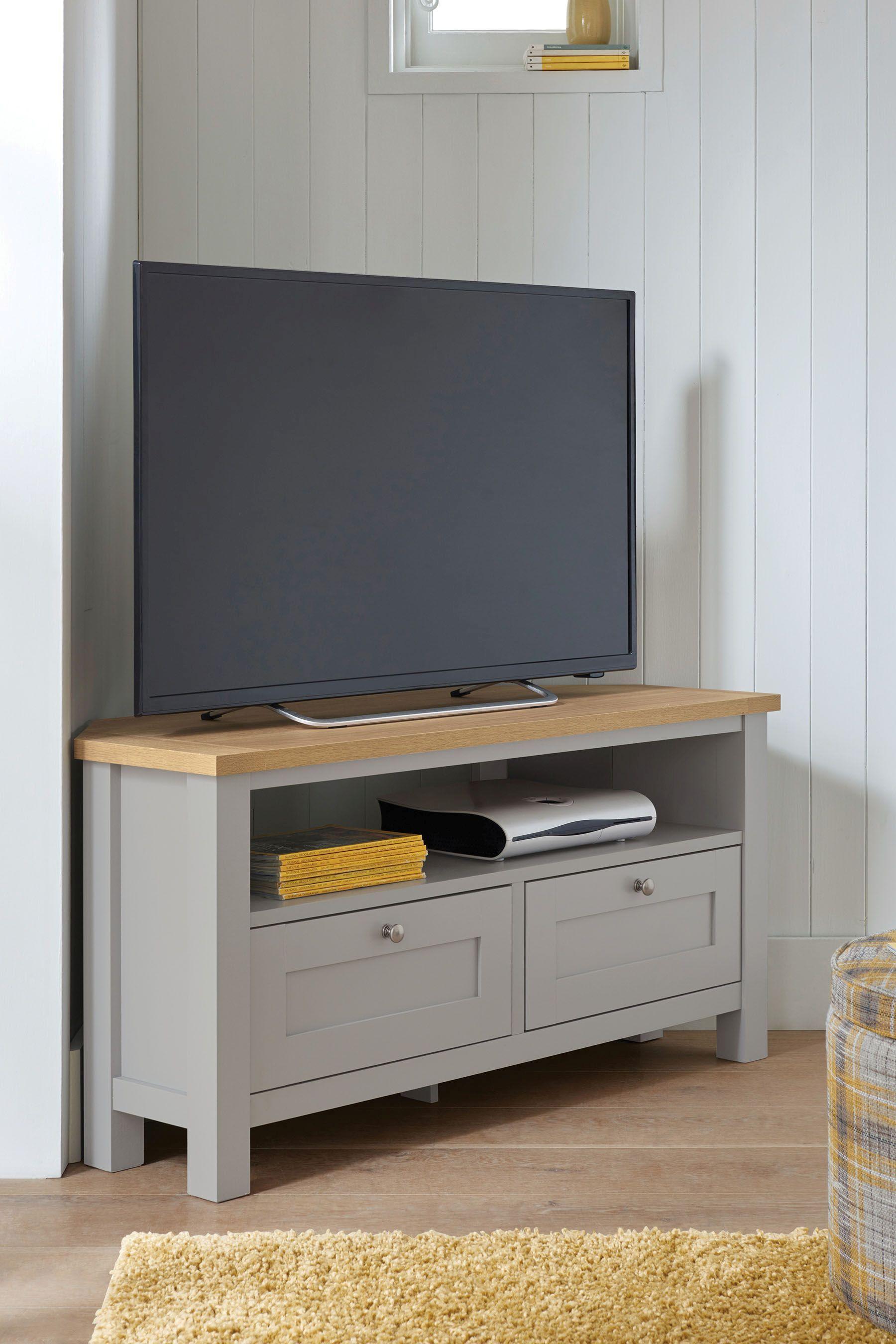 Next Malvern Corner Tv Stand Grey Living Room Tv Stand Corner Tv Stands Corner Tv