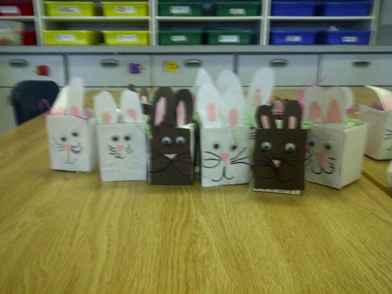 Milk carton Easter baskets