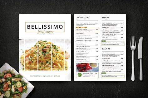 modern restaurant menu bellissimo brochures 1 チラシ menu