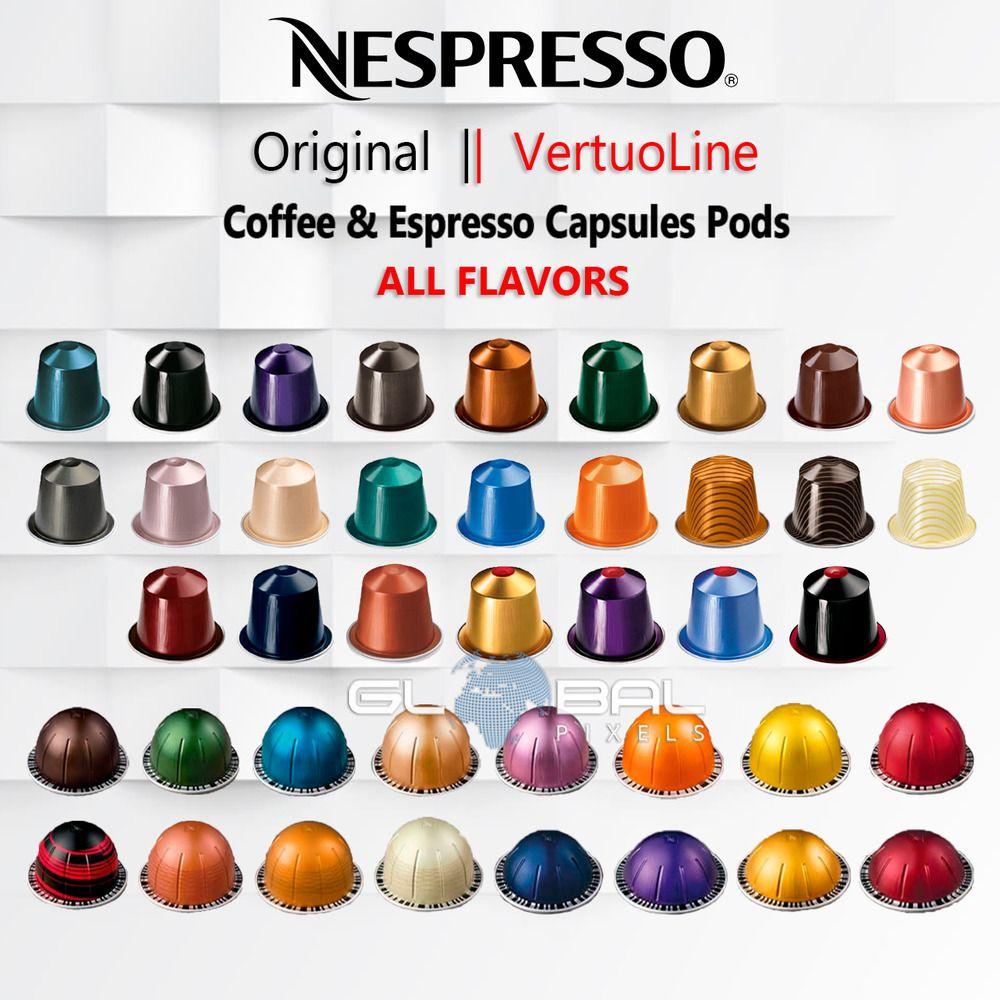 Details About Nespresso Original Vertuoline Capsules Pods Coffee
