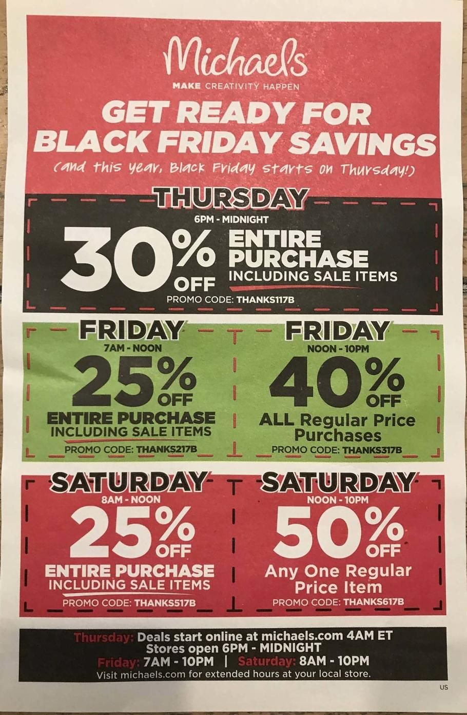 f97c85ddfe2fd Michaels Black Friday 2017 Ad Scan Deals and Sales #coupons The 2017  Michaels Black Friday ad is here! Starting at 6PM on Thanksgiving until  midnight theyll ...