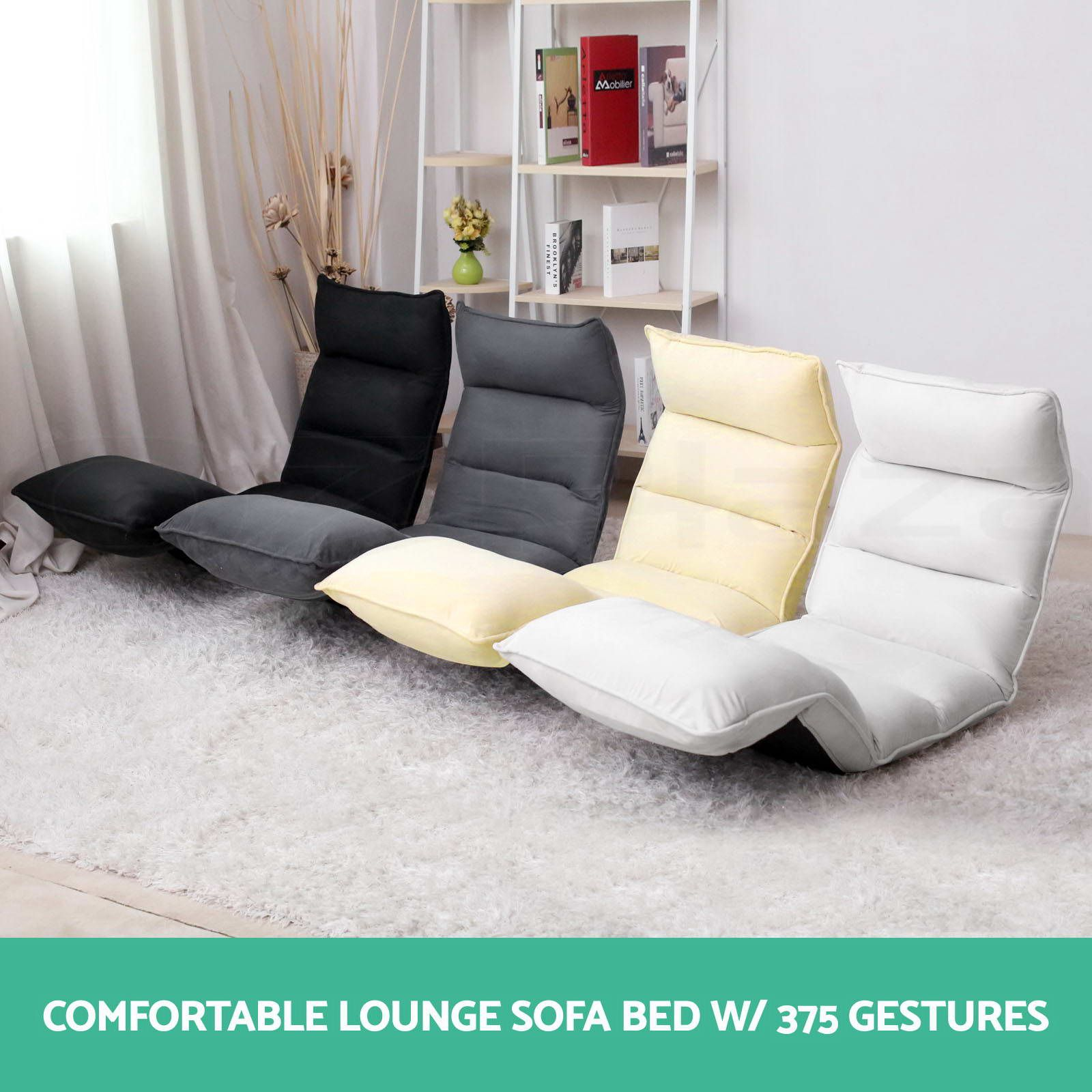 52 Reference Of White Sofa Bed Ebay In 2020 Floor Lounge Chair Chair Floor Chair