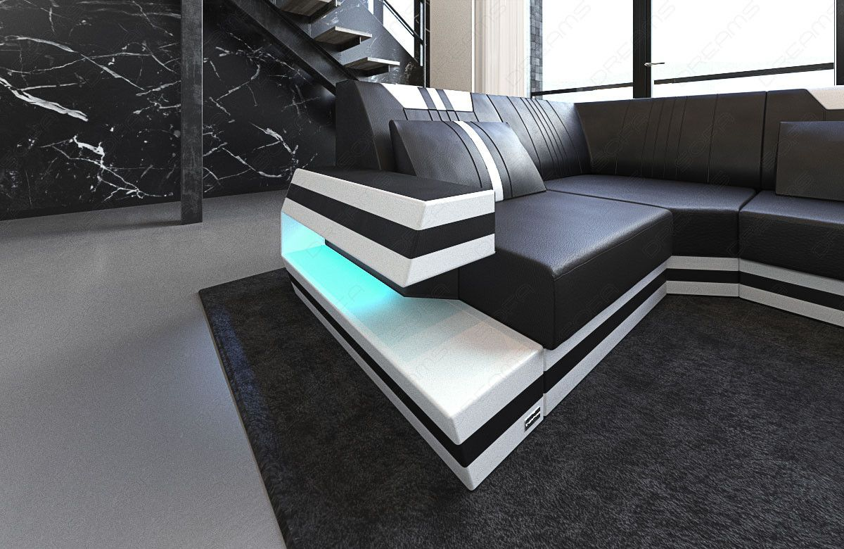 Design Sectional Sofa Hollywood U Shape With Led And Usb With