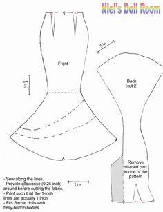 Afbeeldingsresultaat Voor Dynamite Girls Doll Pattern Sew Mermaid Dress
