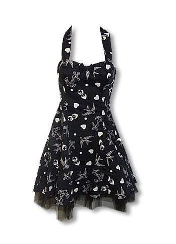 rockabilly clothes   GO1825-Rockabilly_Tattoo_Kleid_schwarz_weiss-Rockabilly_Mode ...