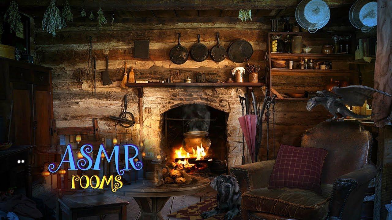 Hagrid's Hut REMAKE Harry Potter ASMR Cozy fireplace