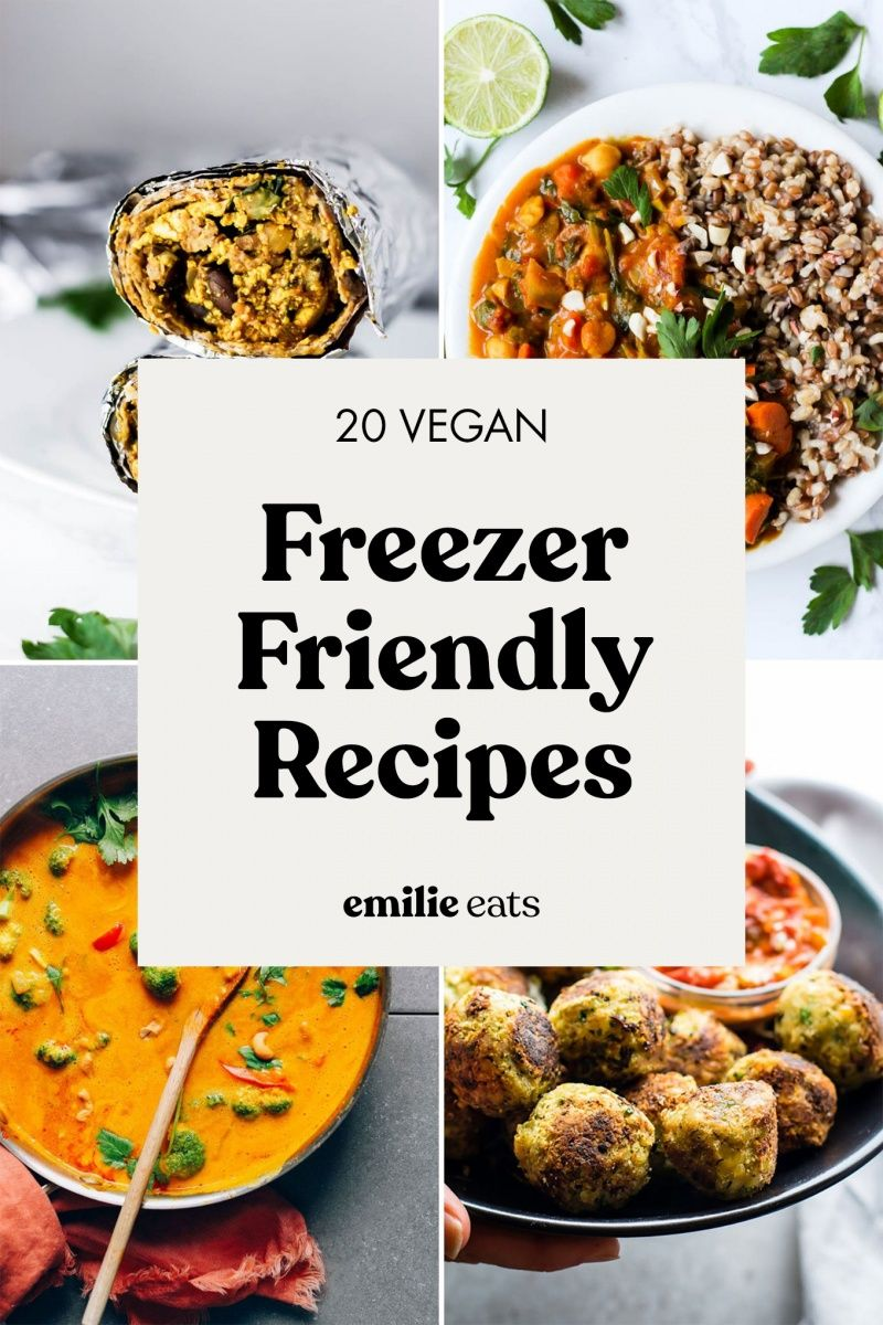 Meal prep can save a LOT of time during busy seasons, so I've rounded up 20 of my favorite freezer-friendly dinner ideas! From casseroles to soups to stuffed peppers, these vegan recipes will please your entire family and can be safely stored for weeks.