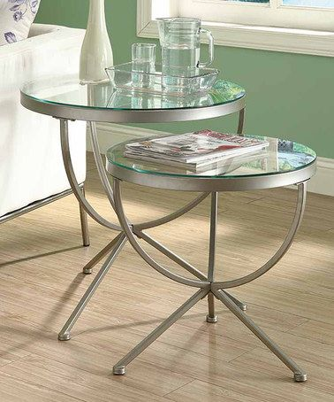 Love This Satin Silver Globe Nesting Table Set On Zulily