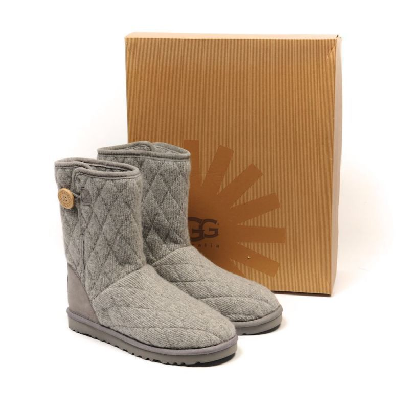 bd05f058072 UGG Boots Grey W Mountain Quilted Short Size US 5 / UK 3.5 WP 24 RRP ...