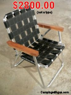 This Must Be The Most Expensive Folding Aluminum Camp Or Lawn Chair Ever 2800 Dollars Really