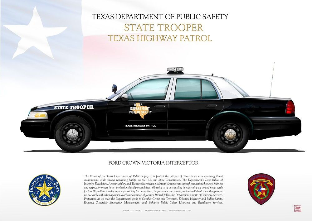 Ford Crown Victoria Interceptor Dps Jpg 10b Texas State Trooper Texas Police Interceptor