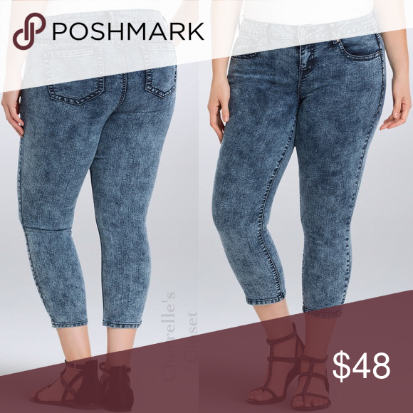 862e71850d3 Torrid Crop Skinny Jeans Acid Wash Plus Size 20 Love Torrid s Skinny jean   Wish it could do a  tbt  Or get a little bit shorter  Well look no further!