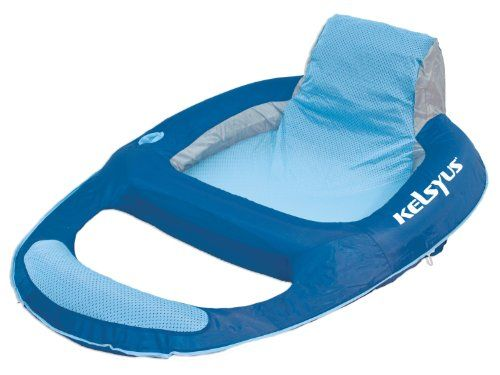 Kelsyus Floating Lounger These Look Pretty Comfy And They Have Loops So You Can Hook Them Together Pool Lounger Inflatable Chair Inflatable Lounger