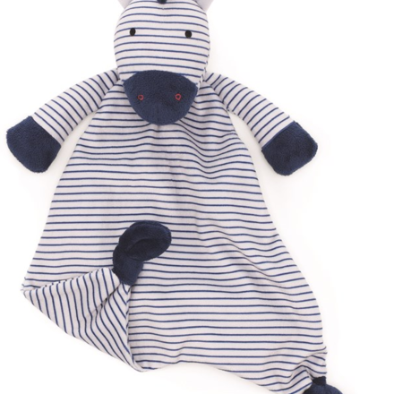 This zebra comforter is soft and cuddly for your little newborn baby.