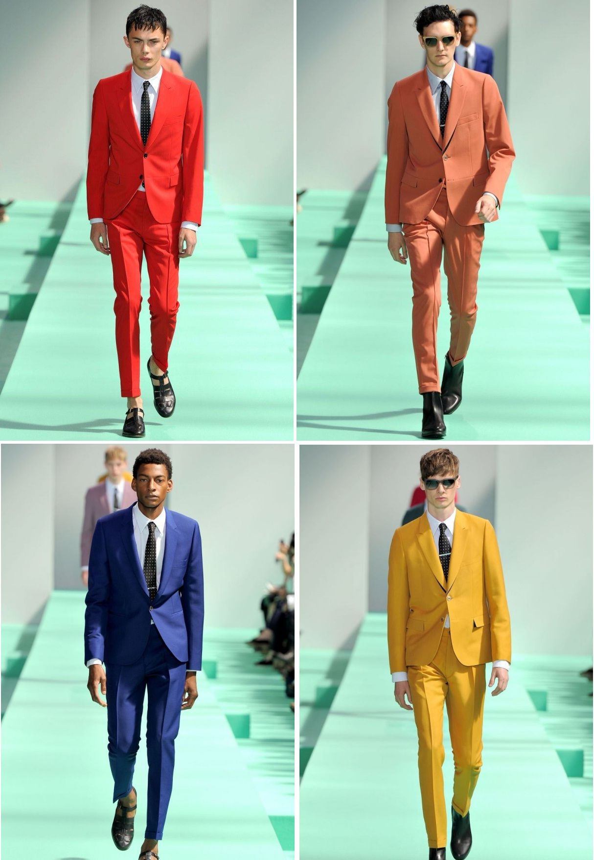 Colour on guys is a must have this summer latest fashion trends