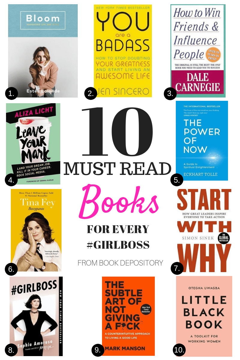Must read books for Every Girl Boss #bookstoread