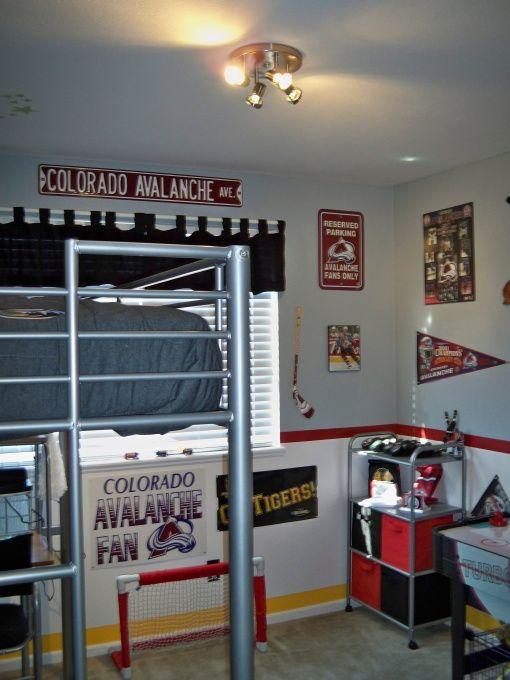 Jake S Hockey Fanatic Room Hockey Room Boys Hockey Room Hockey Bedroom Decor