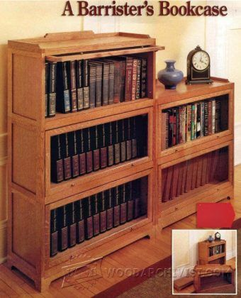 1021 Barrister Bookcase Plans Bookcase Plans Barrister Bookcase Furniture Project Plans
