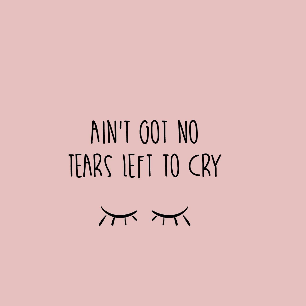 Resultado de imagem para ariana grande no tears left to ... Ariana Grande Lyrics Tumblr