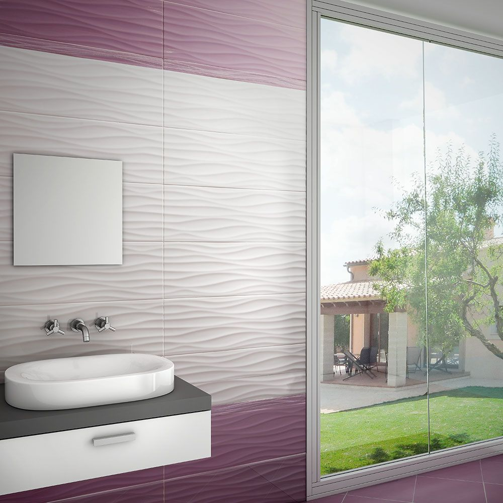 White Wave Tiles Walls And Floors Bathroom Pinterest Walls Budget Bathroom And Bathroom